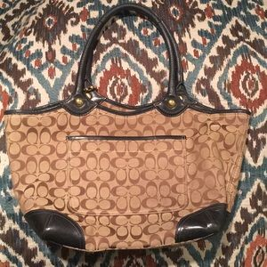 Coach Bags - Authentic Large Signature Coach Bag